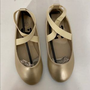 Bailarina Gold Shoes for Kids